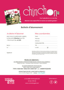 Abonnement par courrier Chinchon - V201806